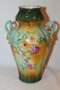 Antique Royal Bonn Hand Painted Vase Mid 1800 S 10 1 2 Tall