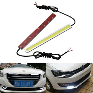 2x Car 100led Waterproof Daytime Running Strip Lights Drl Fog Day Driving Lamp