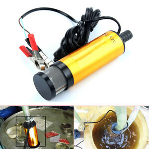 12v Diesel Fuel Water Oil Car Electric Pump Transfer Submersible Pump 12 L Min