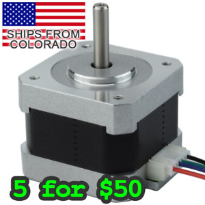 Nema17 34mm Stepper Motor For Arduino Pi 3d Printers Cnc Diy Application