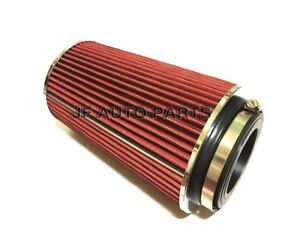 10 H Cold Short Ram Intake High Flow Cone Red Air Filter3 3 5 4 Reducer