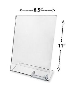 Lot Of 50 Clear Flyer 8 5x11 Sign Display W Business Card Holder