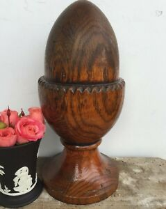 Antique Wood Newel Post Finial Architectural Salvage
