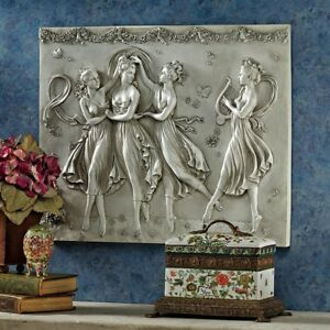 26 W Hellenistic Dancing Trio Greek Wall Bas Relief Sculpture By Antonia Canova