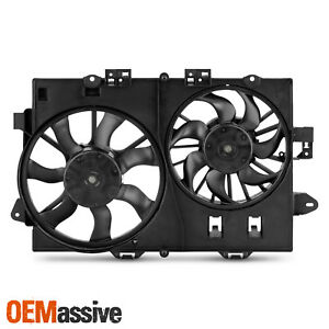 For 2006 2008 Chevy Equinox Pontiac Torrent Condenser Cooling Radiator Dual Fan