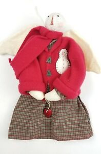 Primitive Snow Angel Doll Handmade Hanging Snowman Christmas