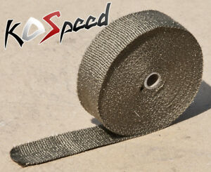 Titanium Lava Rock High Temp Exhaust Header Manifold Heat Wrap 2 X 1 16 X 50