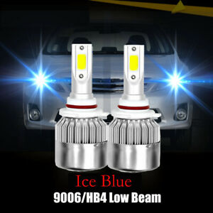 9006 Ice Blue 10000lm 8000k Led Headlight Bulbs Low Beam For 00 06 Toyota Camry