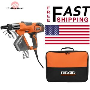 Ridgid Screwdriver Screw Gun Corded Drywall Deck Collated 3 Adjustable Depth