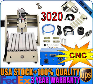 4axis Cnc3020 Router Engraver 3d Wood Cutter Carving Drilling Engraving Machine