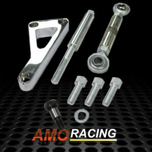 New Chrome Aluminum Alternator Bracket Fit Sbc Chevy With Long Water Pump Lwp