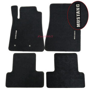 Fits 05 09 Ford Mustang Floor Mats Carpets Nylon Black W mustang Embrodery