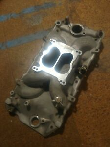 Weiand 8123 Street Warrior Intake Chevy Oval Dual Carb Flange