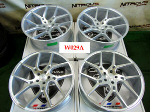 22 Giovanna Dilijan Tesla Model S X Concave Staggered Silver Wheels W029a