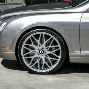 22 Giovanna Koko Funen Concave Audi A7 S7 A8 A8l Staggered Silver Wheels W029c