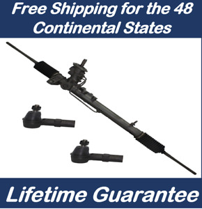 Power Steering Rack And Pinion For Audi Tt Quattro 00 06 2 New Outer Tie Rods