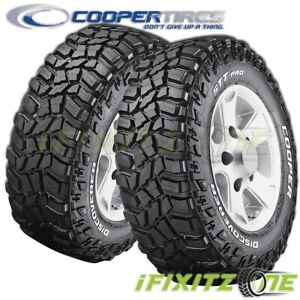 2 Cooper Discoverer Stt Pro 33x12 50r15 108q C Rwl Extreme All Terrain Mud Tires