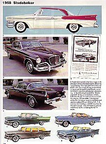 1958 Studebaker Golden Hawk Starlight President Article Must See