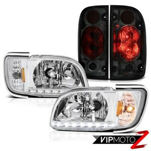 01 02 03 04 Toyota Tacoma 4x4 Smokey Tail Brake Lamps Chrome Headlights Bumper
