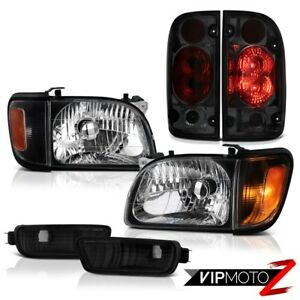 For 01 04 Toyota Tacoma 4wd Phantom Smoke Tail Lights Headlamps Bumper Oe Style