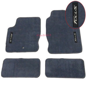 Fits 00 07 Ford Focus Gray Nylon Floor Mats Carpets W Embroidery