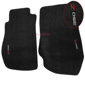 Fits 03 09 Nissan 350z Floor Mats Carpet Nylon Black W 350z Embroidery