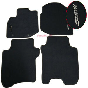 Fits 2006 2012 Honda Fit 4dr Black Nylon Floor Mats Carpets W Spoon Embroidery