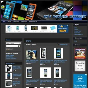 Nokia Cell Phone Store Premium Affiliate Business Website For Sale Home Based