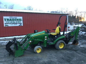 2014 John Deere 1025r 4x4 Compact Tractor Loader Backhoe W Grapple 600 Hours