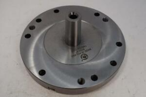 New Bison 3mt 6 Lathe Back Plate Chuck Adapter For Rotary Table Mill Fixture