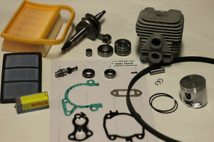Stihl Ts420 Cylinder And Piston Crankshaft Overhaul Rebuild Kit W Gaskets