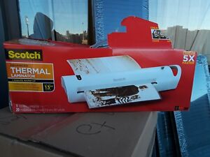 Scotch Advanced Thermal Laminator With Laminating Pouches 13 Inch Throat