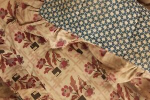 Antique French Quilted Baby Bumper C 1920 S Fabric Collectible Textile