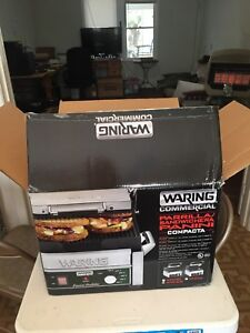 Waring Wpg150b Grooved Top Bottom Panini Sandwich Grill 208v 2392w