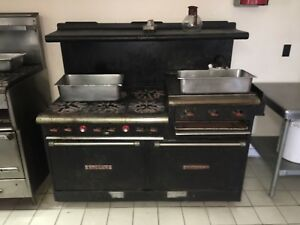 Garland Range Six Burner With 24 Inch Raised Griddle broiler 2 Standard Ovens