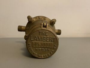 Vintage The Lambert Meter Neptune Water Co 5 8 Steampunk New York