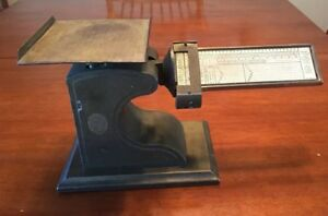 Antique Vintage Pelouze Cast Iron Brass Balance Postal Scale Chicago