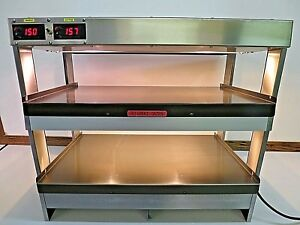 Hatco Grtb 29ssl Glo ray Commercial Slant Merchandising Display Warmer W trays