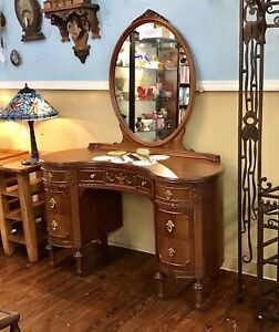 Vintage Kidney Shaped Vanity Union National Fine Furniture Jamestown Ny 1930 S