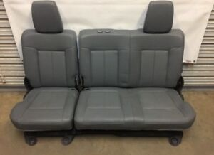 1999 2016 Ford F250 F350 Super Duty Rear Seat Gray Vinyal 60 40