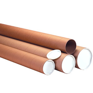 Ship Now Supply Snp4072khd Heavy duty Mailing Tubes With Caps 4 X 72 Kraft