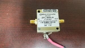 Mini circuits Zfl 500ln 0 1 500mhz Amplifier