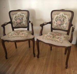 Vintage Italian Louis Xv Tapestry Chair Price For One