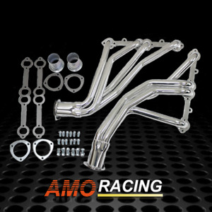 Stainless Steel Long Tube Exhaust Headers Y Pipe Fit 67 77 Chevy Sbc Truck Gmc