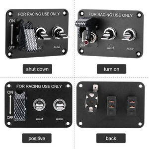 12v Racing Car Ignition Switch Panel Engine Start Push Button On Off Starter Ap