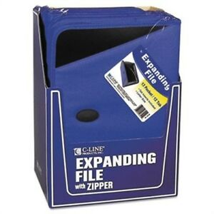 Expanding File portfolio Zipper 13 Pocket Document File tabbed Dividers Blue 2pk