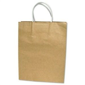 Premium Large Brown Paper Shopping Bag 50 box