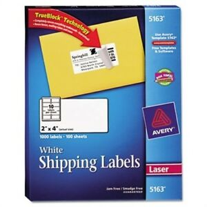 Shipping Labels With Trueblock Technology 2 X 4 White 1000 box 2 Pack