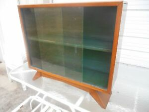 Awesome 1930 S Art Deco Petite Bookcase China Cabinet W Sliding Glass Doors