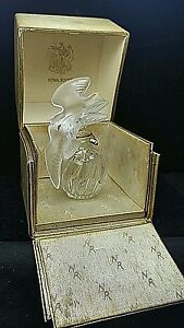 Antique Lalique France Nina Ricci L Air Du Temps Perfume Bottle Box Double Dove